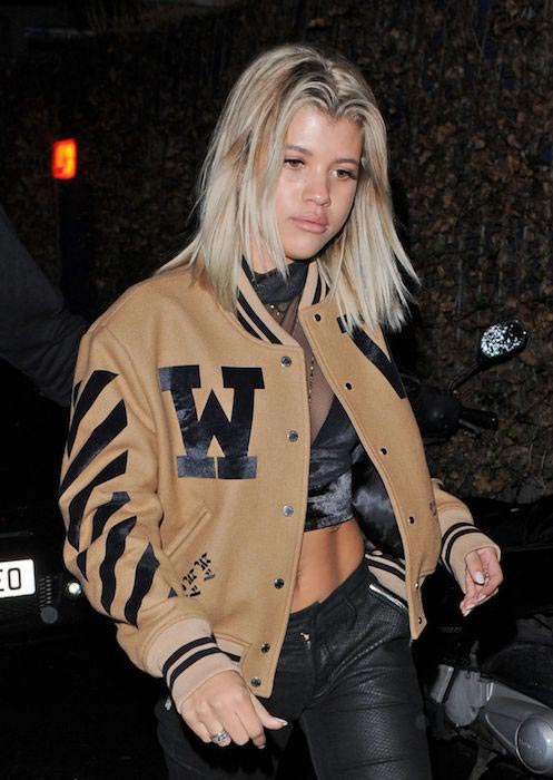 Sofia Richie at Tape Nightclub in London in October 2016