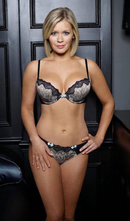 Suzanne Shaw as a lingerie model for the Michelle Underwear range for George at Asda
