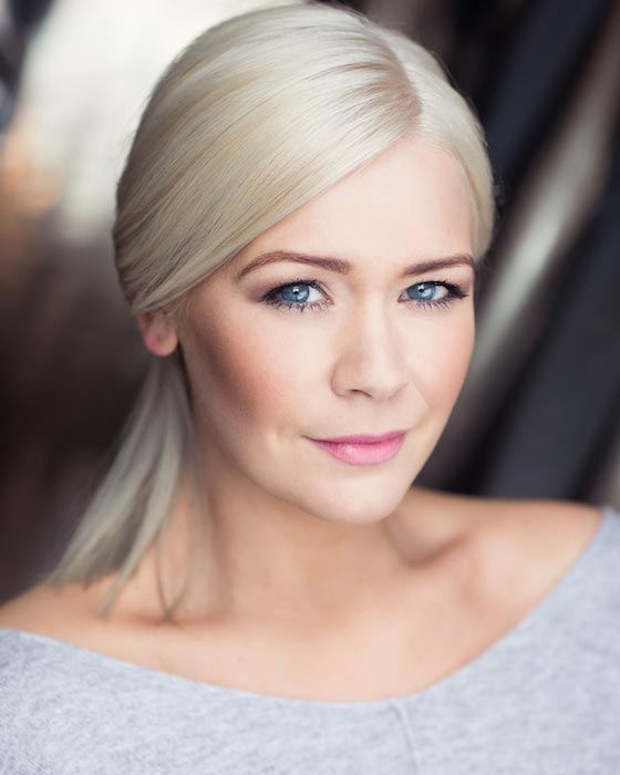 Suzanne Shaw posing for celebrity photographer Michael Wharley in 2016