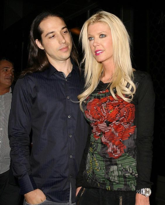 Tara Reid and her former boyfriend Erez Eisen at Hakkasan Restaurant on October 16, 2013