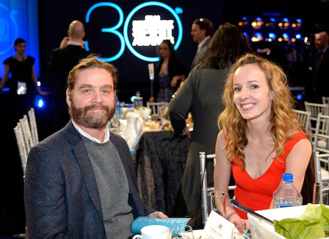 Zach Galifianakis and his wife Quinn Lundberg at the Film Independent Spirit Awards 2015