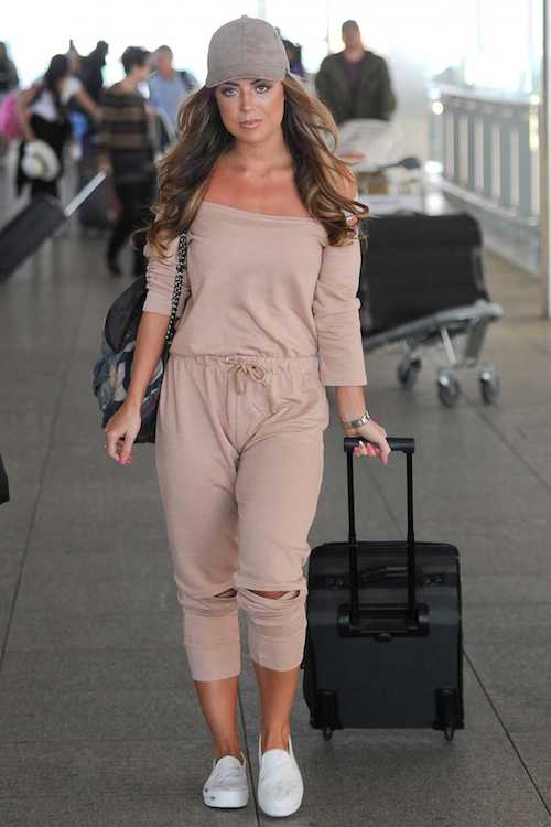 Abigail Clarke at Heathrow Airport in London on August 23, 2016