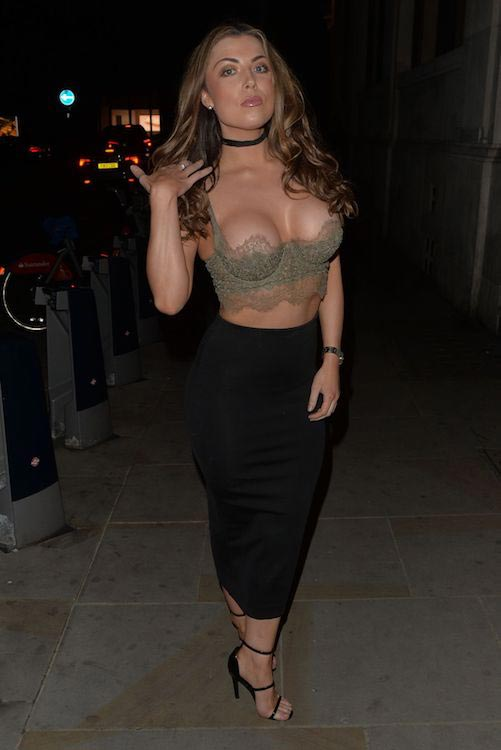 Abigail Clarke at Mason Nightclub in London on April 23, 2016