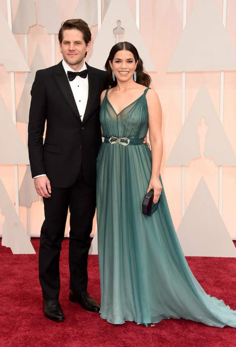 America Ferrera with husband Ryan Williams at the 87th Annual Academy Awards in February 2015