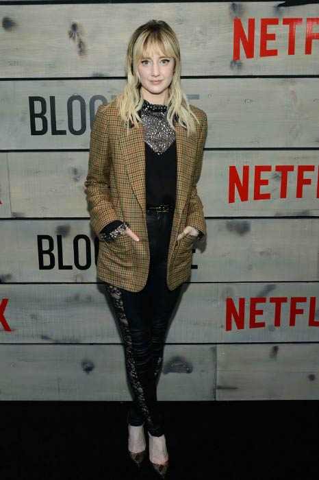 Andrea Riseborough at the premiere of Netflix's Bloodline in Westwood, California on May 24, 2016