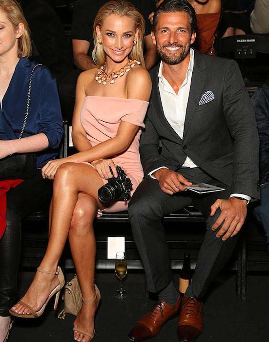 Anna Heinrich Tim Robards sitting front row David Jones Spring / Summer 2016 fashion launch