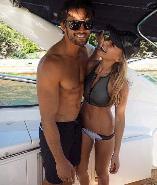 Anna Heinrich with Tim Robards