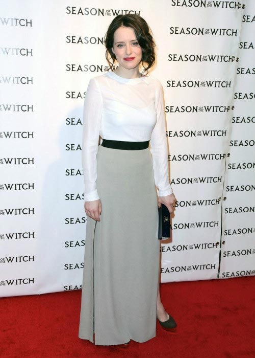 Claire Foy at Season of the Witch premiere in New York City in January 2011