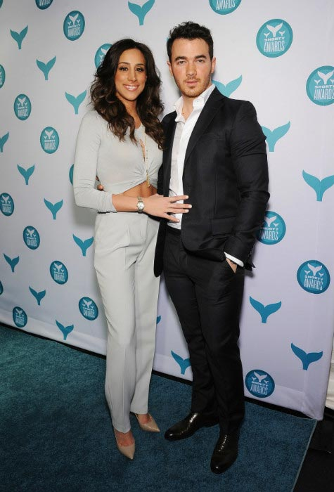 Danielle with husband Kevin Jonas at the 7th Annual Shorty Awards in April 2015