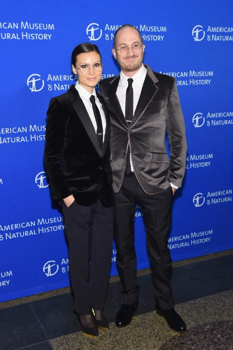 Darren Aronofsky and ex-girlfriend Brandon Milbradt attending the 2014 Museum Gala