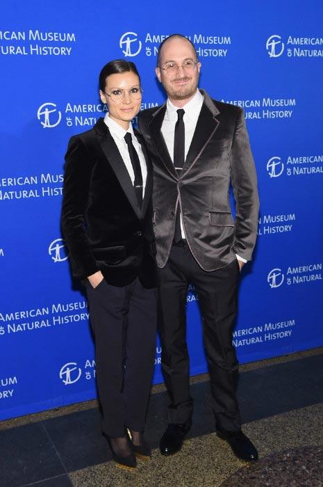 Darren Aronofsky and ex-girlfriend Brandon Milbradt attending the 2014 Museum Gala