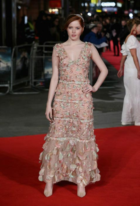 Ellie Bamber at Pride And Prejudice And Zombies premiere in London in February 2016