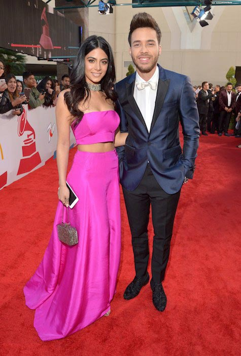 Emeraude Toubia and boyfriend Prince Royce at Latin Grammy Awards on November 19, 2015