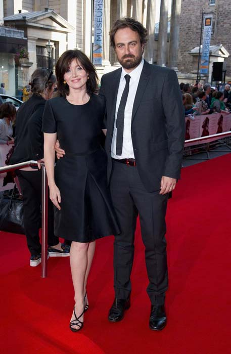 Essie Davis with Justin Kurzel at the Macbeth premiere at Edinburgh Festival Theatre in September 2015