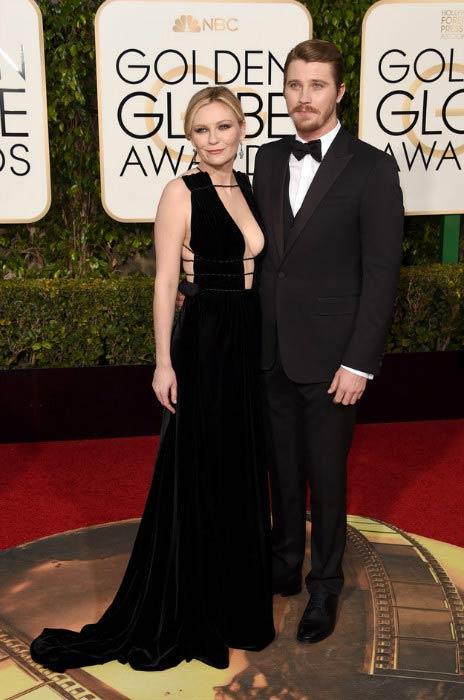 Garrett Hedlund and Kirsten Dunst at 2016 Golden Globe Awards