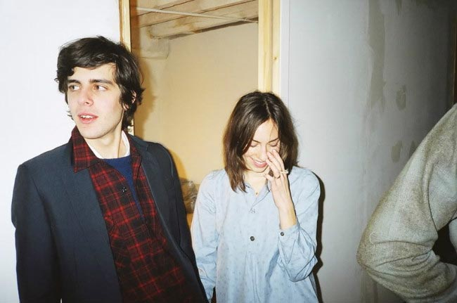Gia Coppola with Sam Freilich during a private party