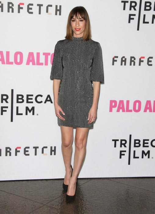 Gia Coppola puts on sizzling appearance during the premiere of her movie Palo Alto in May 2014