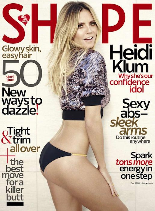 Heidi Klum Shape Magazine December 2016