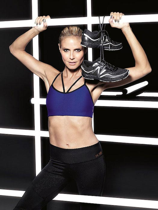 Heidi Klum during New Balance photoshoot