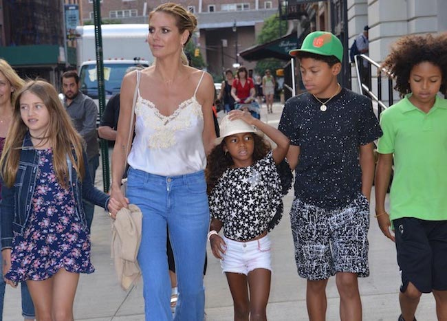 Heidi Klum out in NYC with her four kids
