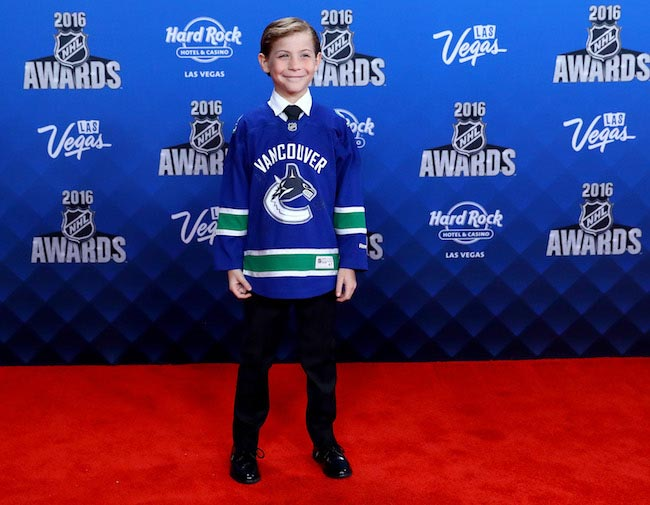 Jacob Tremblay at NHL Awards at the Hard Rock Hotel & Casino in Las Vegas on June 22, 2016