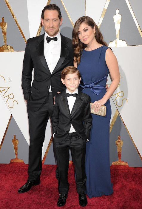 Jacob Tremblay at the 2016 Annual Academy Awards with father Jason Tremblay and mother Christina Candia Tremblay