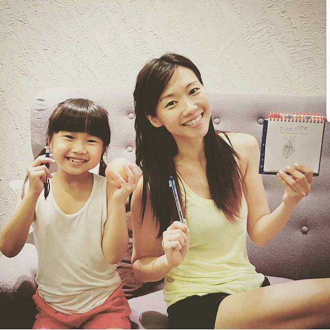 Jaime Teo and her daughter