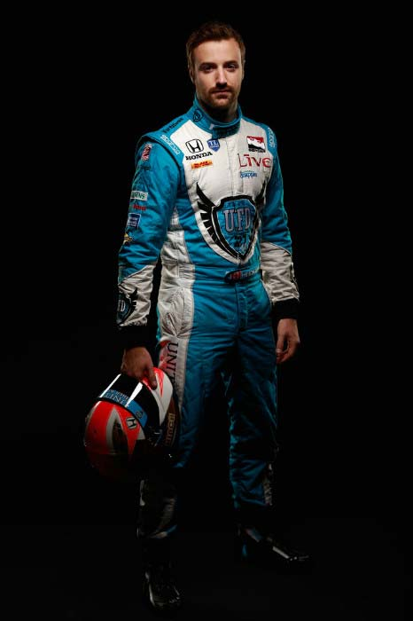 James Hinchcliffe during the IZOD IndyCar Series Media day in Florida in February 2014