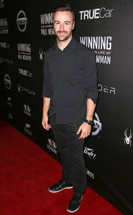 James Hinchcliffe at the charity screening of 'WINNING: The Racing Life Of Paul Newman' in April 2015