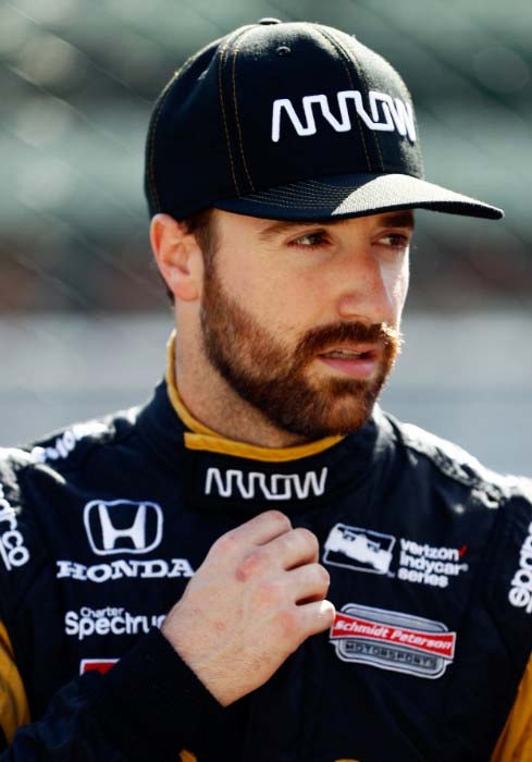 James Hinchcliffe at a practice session before the Indianapolis 500 in May 2016