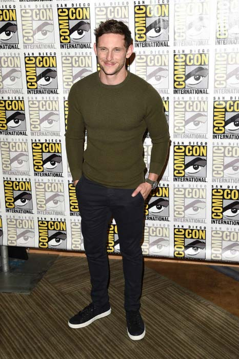 Jamie Bell at 20th Century Fox pressroom during Comic-Con International in July 2015