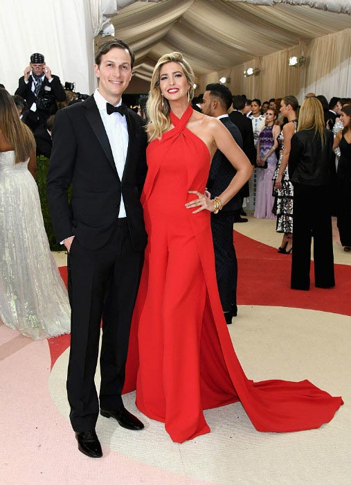 Jared Kushner with Ivanka Trump at the Manus x Machina: Fashion In An Age Of Technology event in May 2016