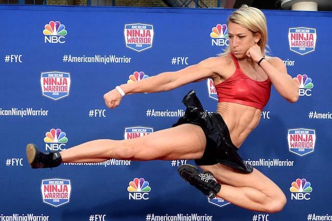 Jessie Graff showing her kick