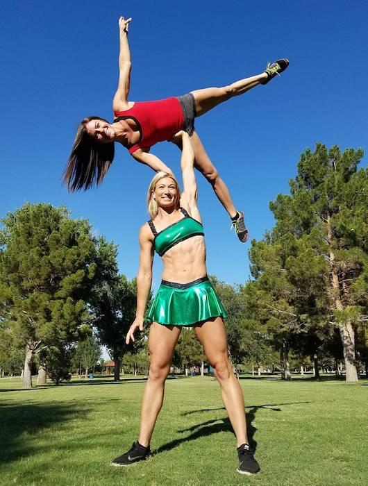 Jessie Graff showing her strength