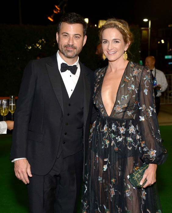 Jimmy Kimmel with Molly McNearney at 2016 Primetime Emmy Awards Governors Ball