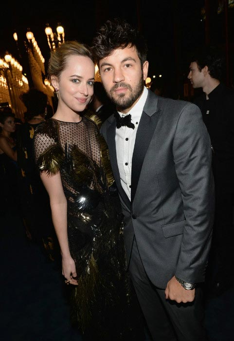 Jordan Masterson and Dakota Johnson at the 2013 LACMA Art + Film Gala