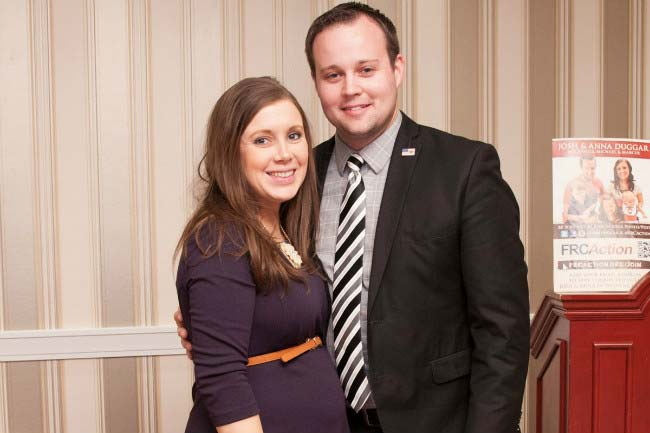Josh Duggar and wife Anna Duggar at Political Action Conference in February 2015