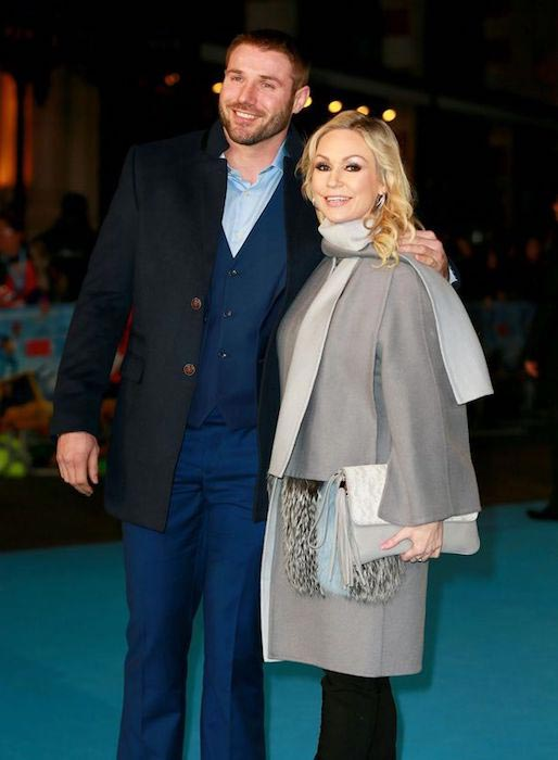 "Kristina Rihanoff and Ben Cohen at the ""Eddie The Eagle"" premiere in London, England on March 17, 2016"