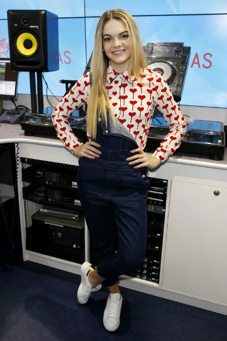 Louisa Johnson at the KIIS-FM office in London in December 2015