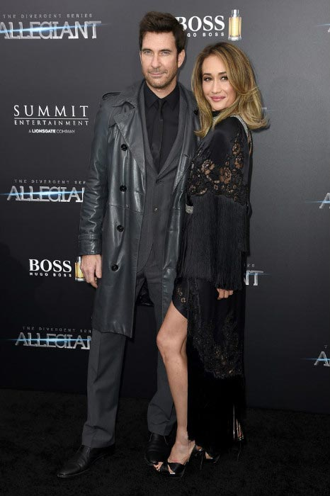 Maggie Q with Dylan McDermott at New York premiere of Allegiant in March 2016