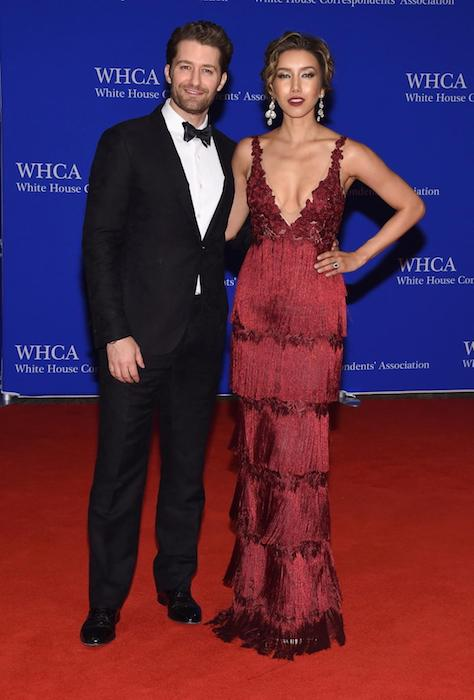 Matthew Morrison with wife Renee Puente at the 102nd White House Correspondents Association Dinner on April 30, 2016