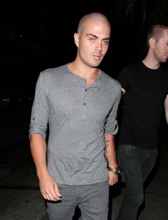Max George at the Hooray Henry's in Los Angeles on August 14, 2013