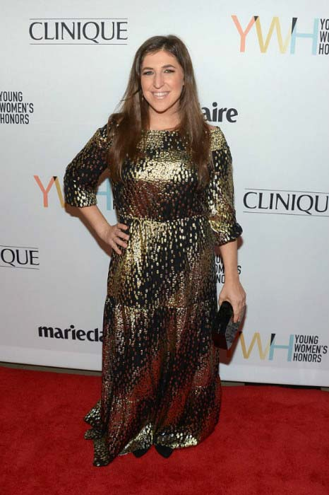 Mayim Bialik at Marie Claire Young Women's Honors in November 2016