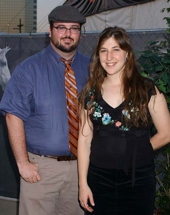Mayim Bialik and ex-husband Michael Stone at a private event in 2004