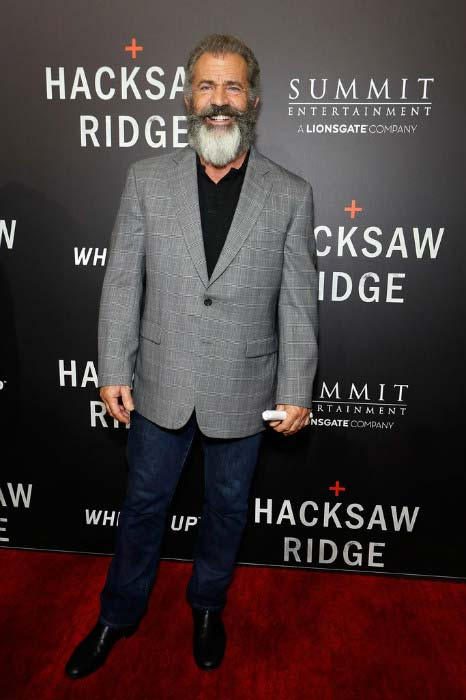 Mel Gibson at the special screening of Hacksaw Ridge in New Orleans in October 2016