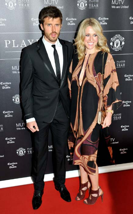 Michael Carrick with Lisa Carrick at Manchester United Player of the Year awards in May 2014