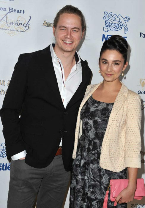 Molly Ephraim with her Last Man Standing co-star Christoph Sanders at the Midnight Mission Golden Heart Awards 2013