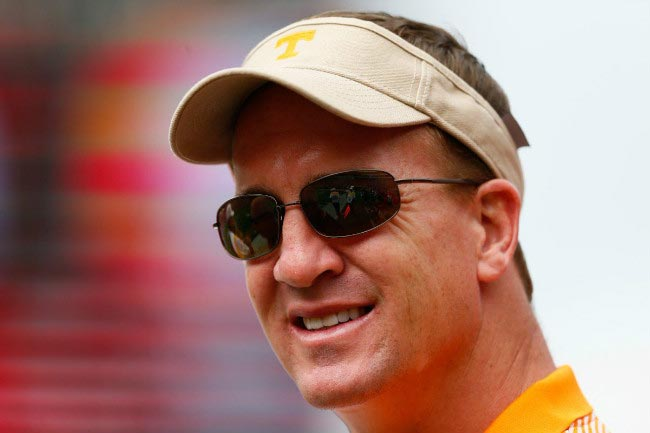 Peyton Manning during a match between Tennessee Volunteers and Georgia Bulldogs in September 2014