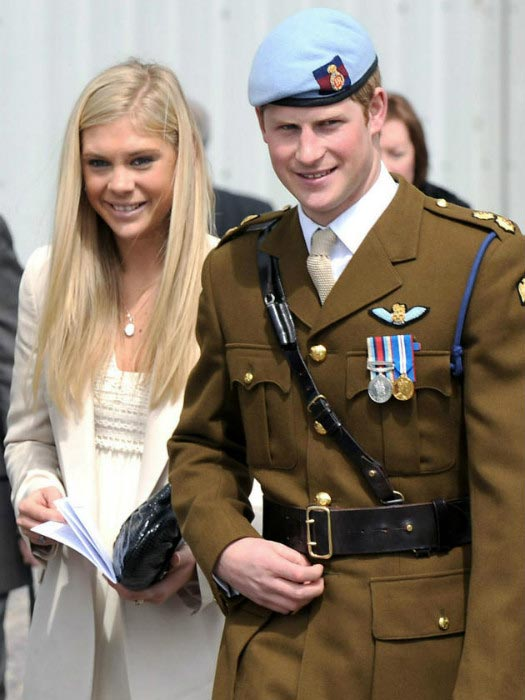 Prince Harry with Chelsy Davy at a military event in 2008