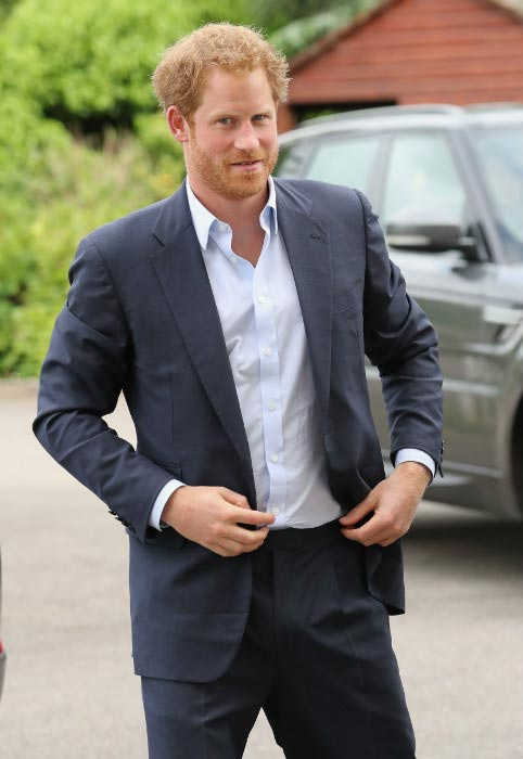 Prince Harry at the Normandy Veterans event in Portsmouth in June 2016